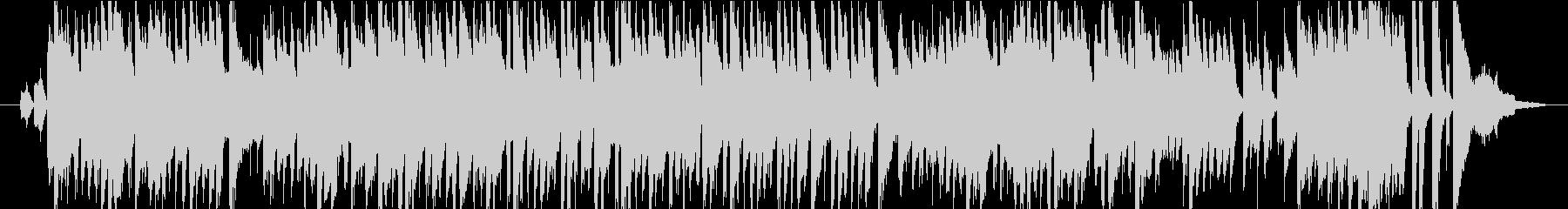 シリアスなボサノバ風ゲームBGMの未再生の波形