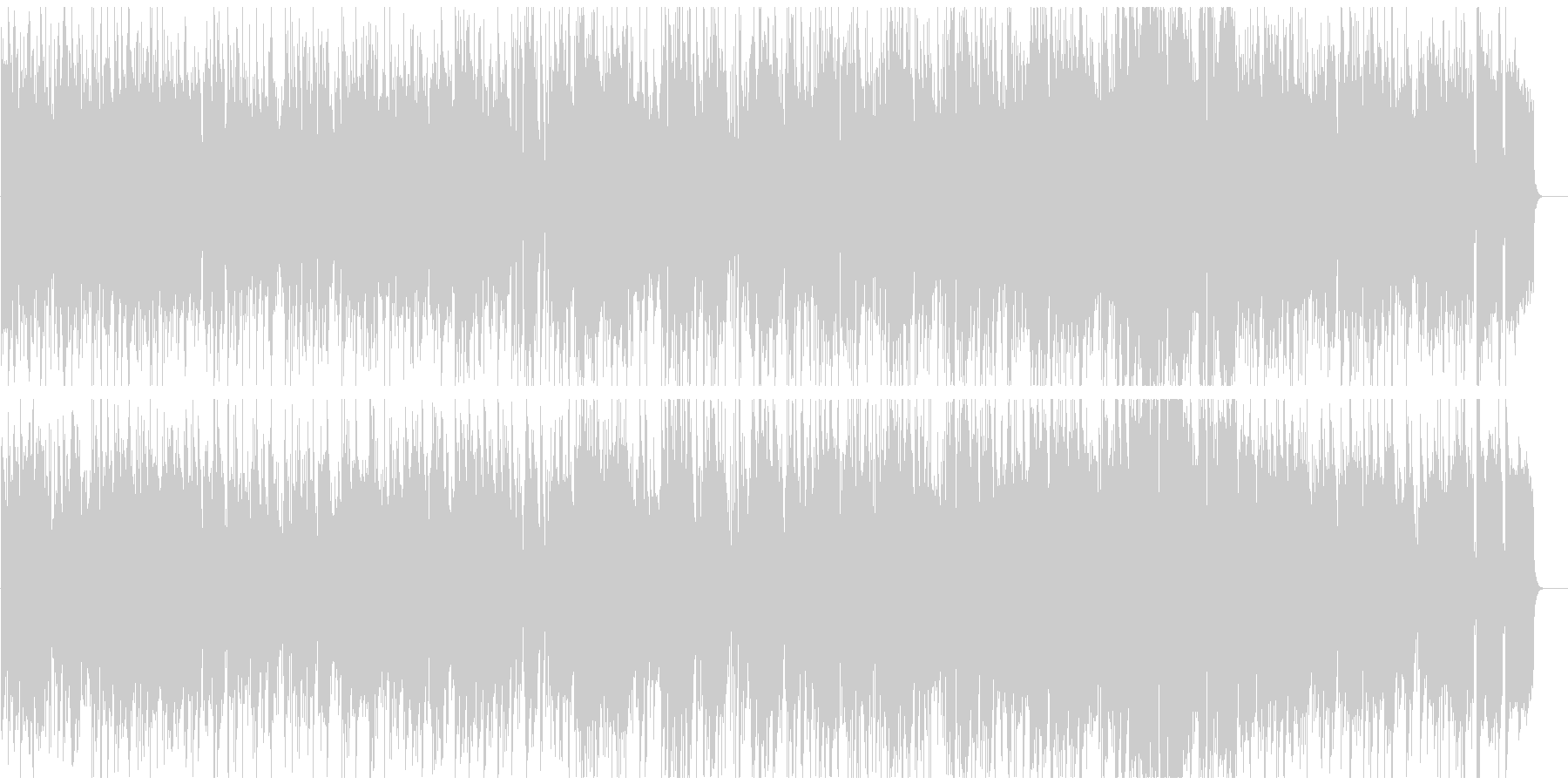 ランチタイムのカフェっぽいジャズボッサの未再生の波形