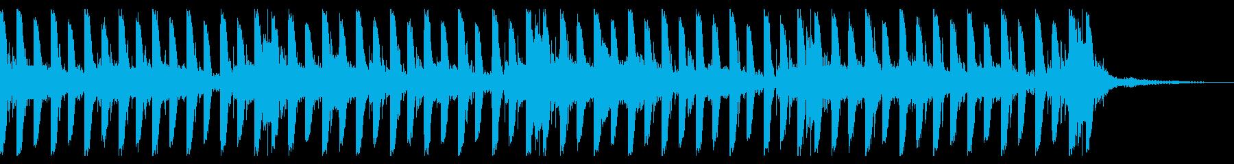 スイープ、128 BPMの再生済みの波形