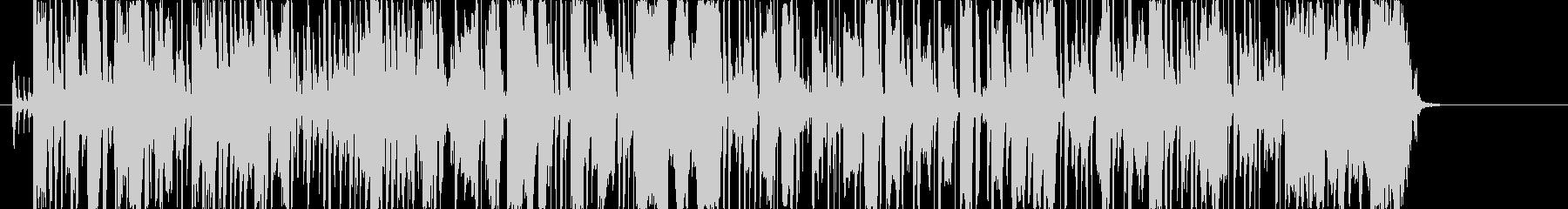 エフェクトのかかったスラップベースの未再生の波形