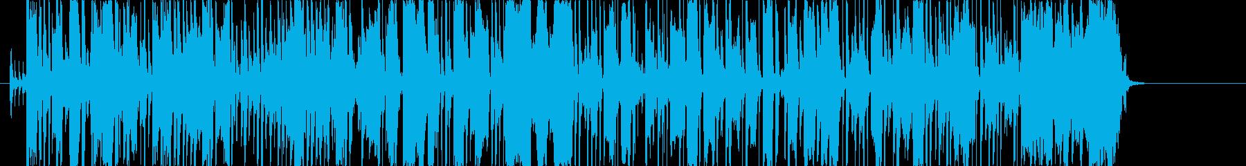エフェクトのかかったスラップベースの再生済みの波形