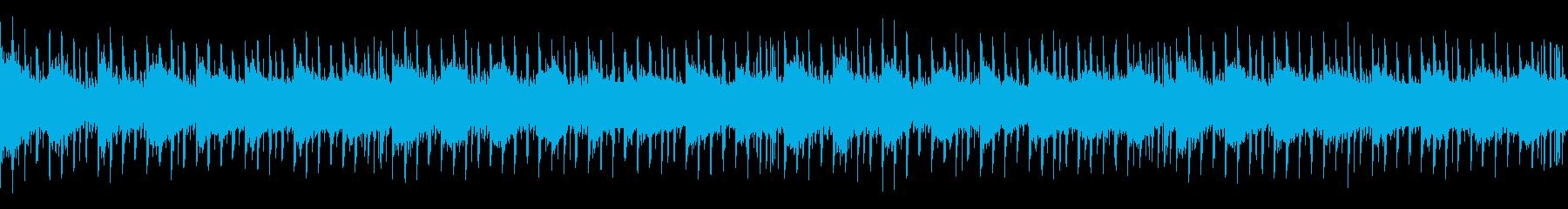 無機質で懐かしいSF風のシンセウェーブの再生済みの波形