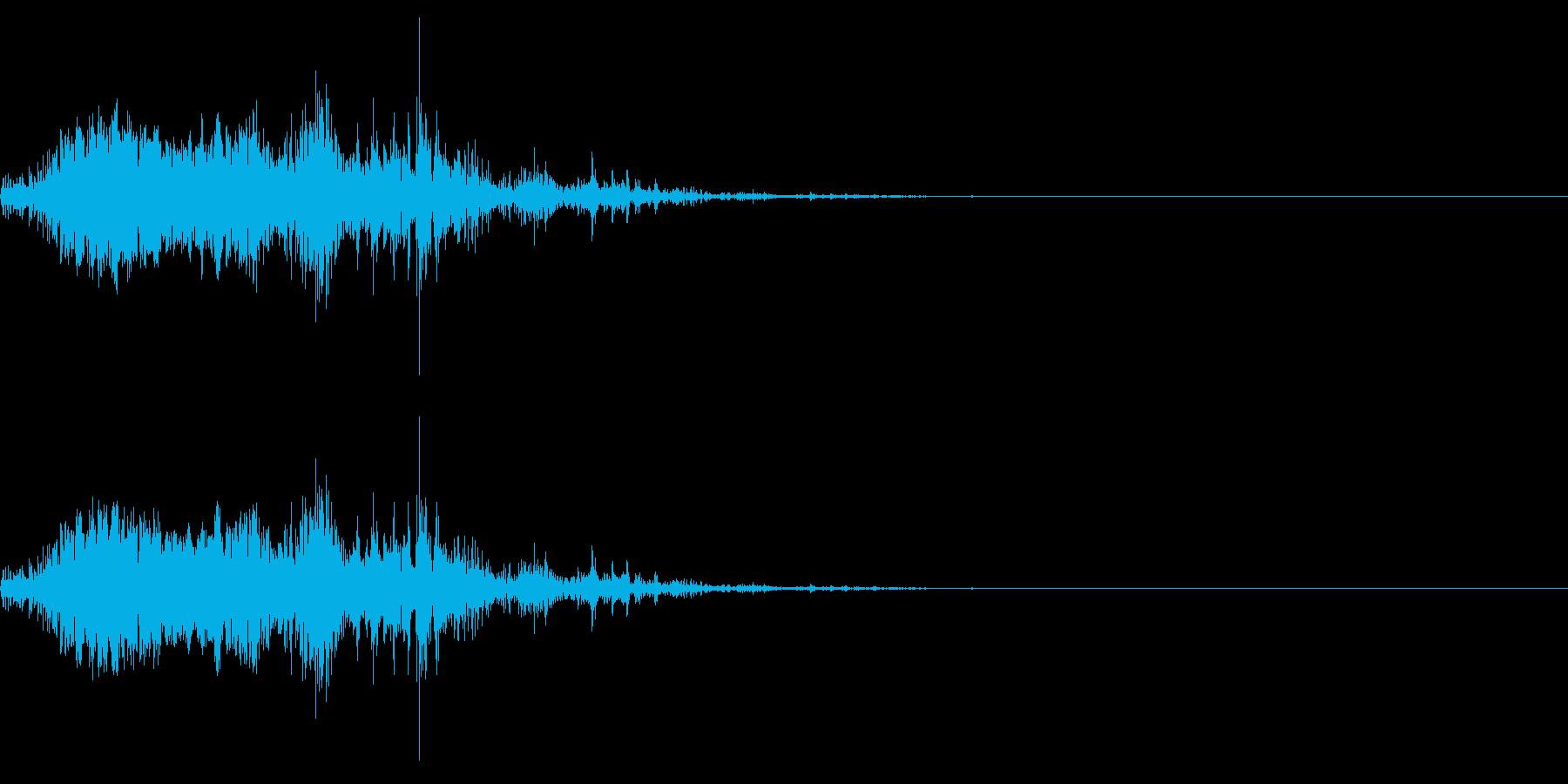 モンスターが獲物を捕食するイメージの再生済みの波形