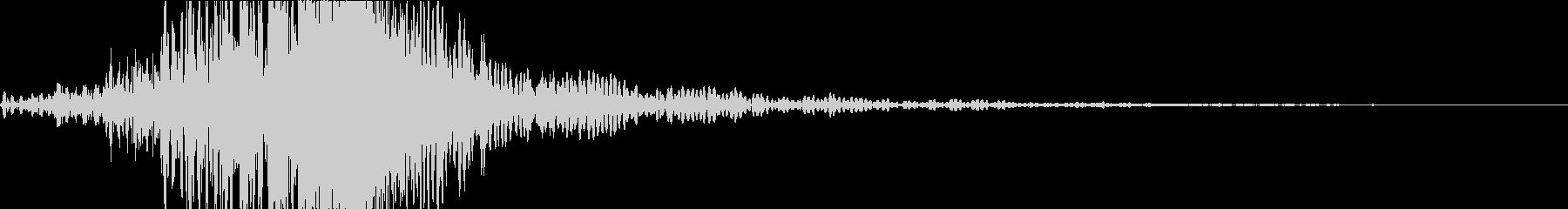 和太鼓ダラララドン(残響音なし)の未再生の波形