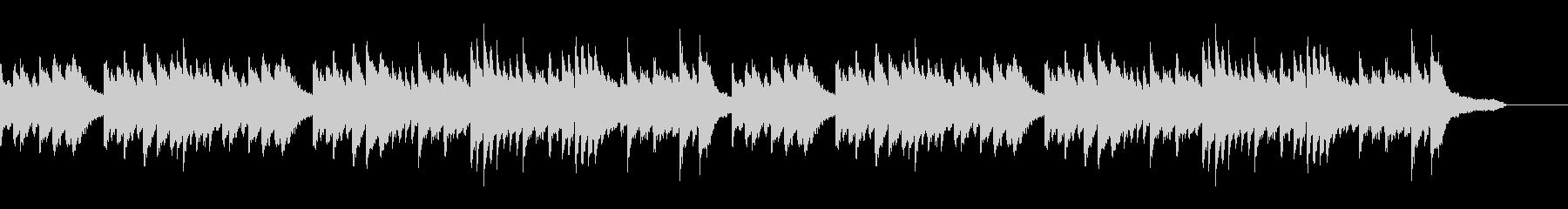 優しく淡い雰囲気の和風なピアノBGMの未再生の波形