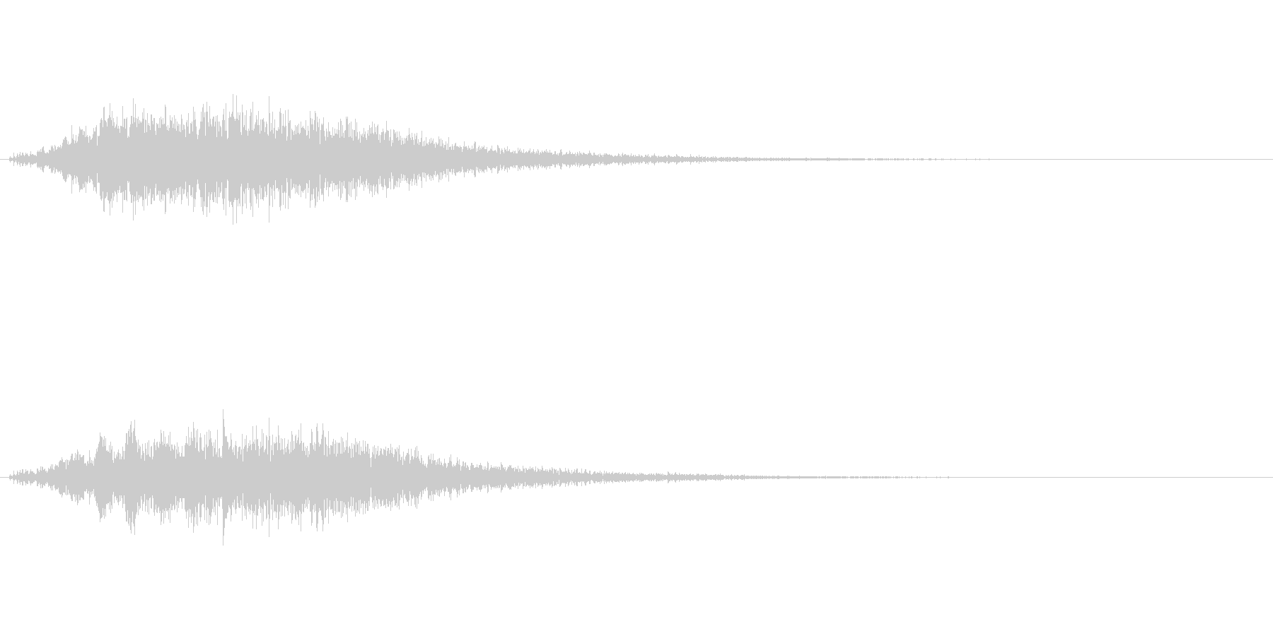 ブォーン(闇の魔法、エフェクト)の未再生の波形