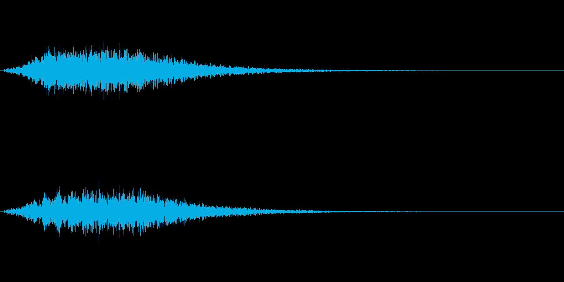 ブォーン(闇の魔法、エフェクト)の再生済みの波形
