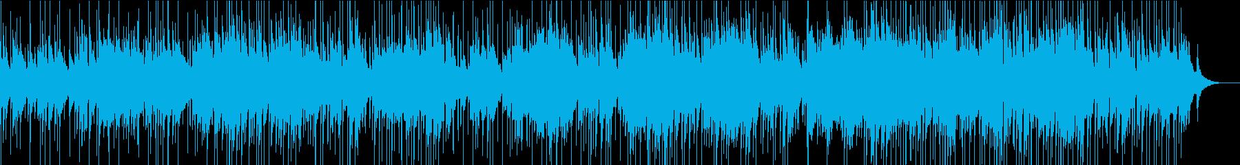 アコギエレピの落ち着きあるBGMの再生済みの波形