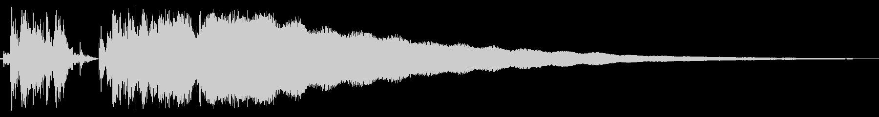 レジスターの清算音(昭和レジスターの音)の未再生の波形