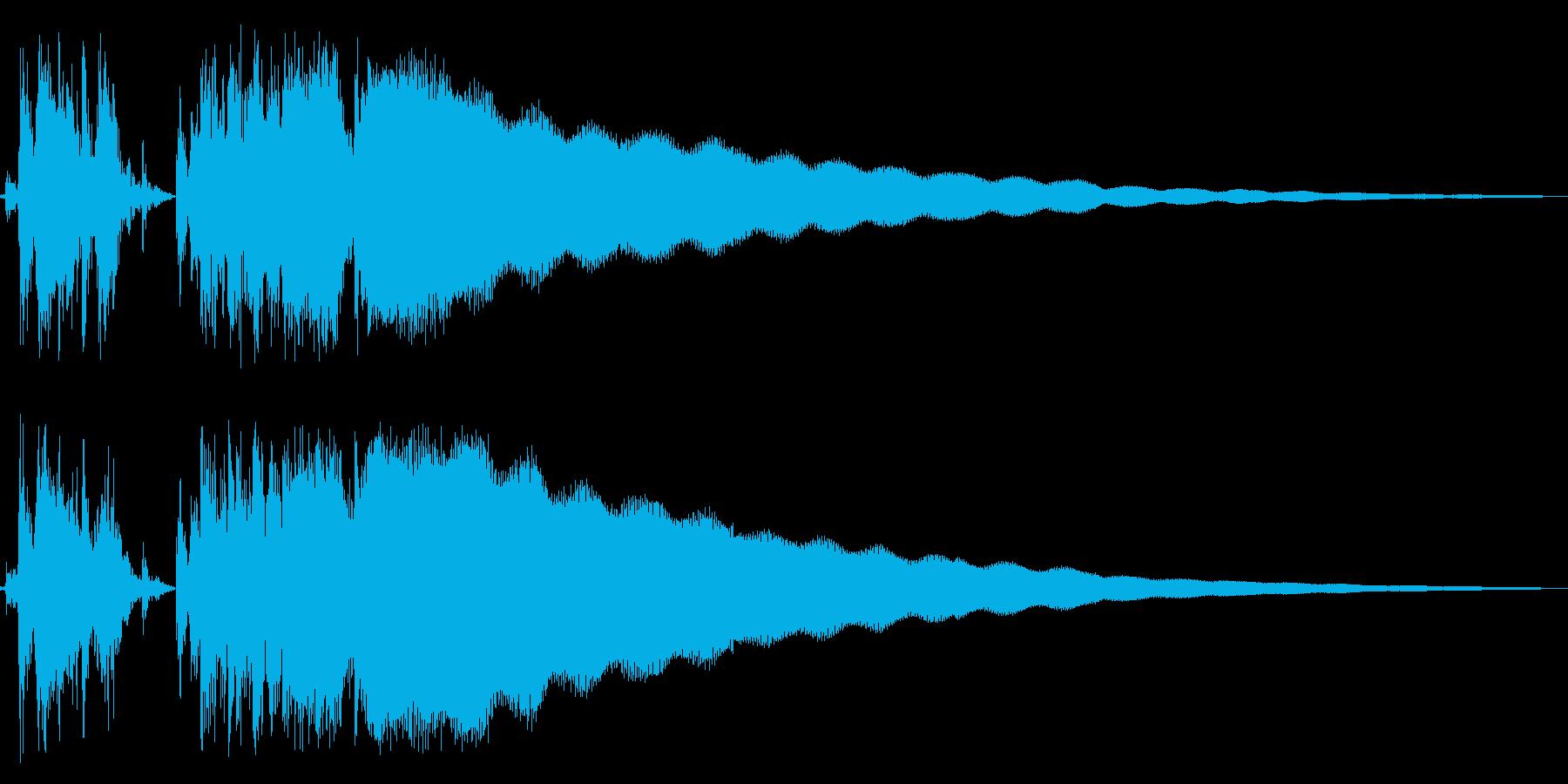レジスターの清算音(昭和レジスターの音)の再生済みの波形