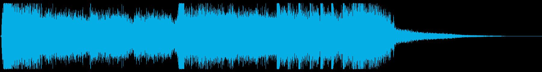 ジングル5秒でテンションMAX!ロック!の再生済みの波形