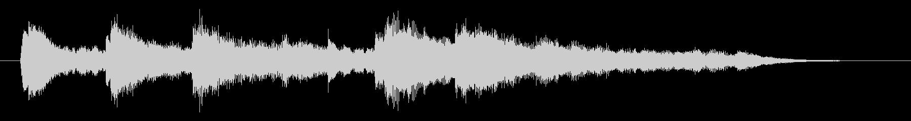 ピアノ&シンセでゲームオーバー音。の未再生の波形