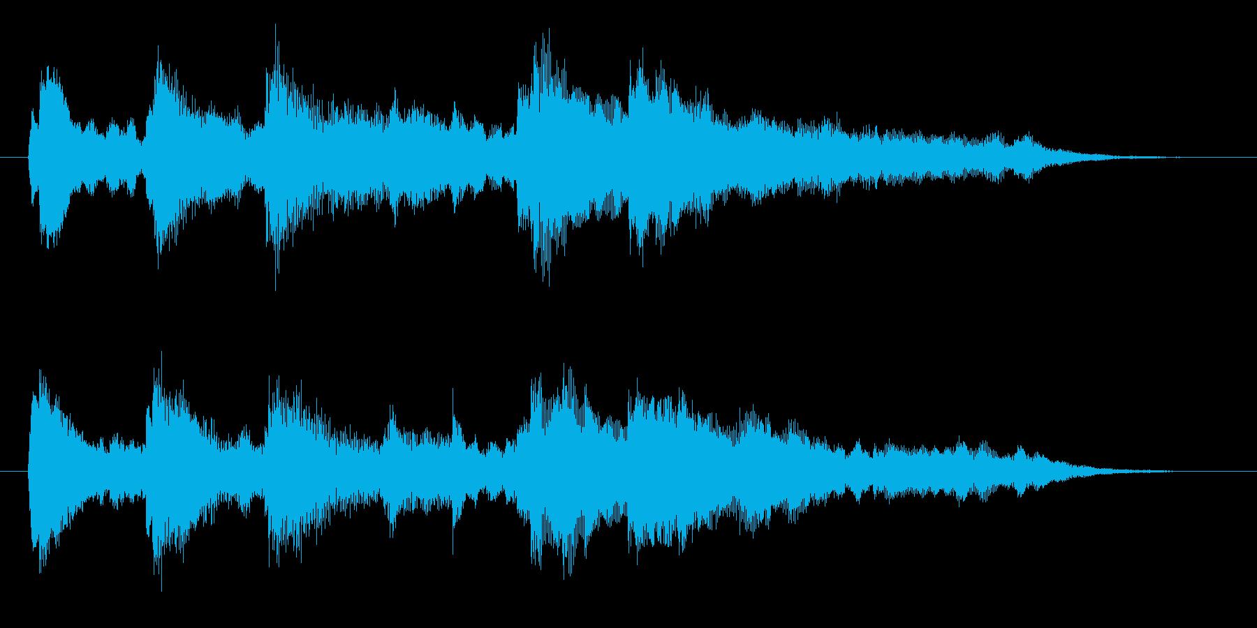 ピアノ&シンセでゲームオーバー音。の再生済みの波形