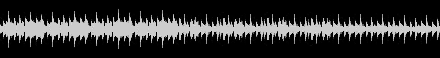 ピアノ、フルート、マリンバのループ曲の未再生の波形