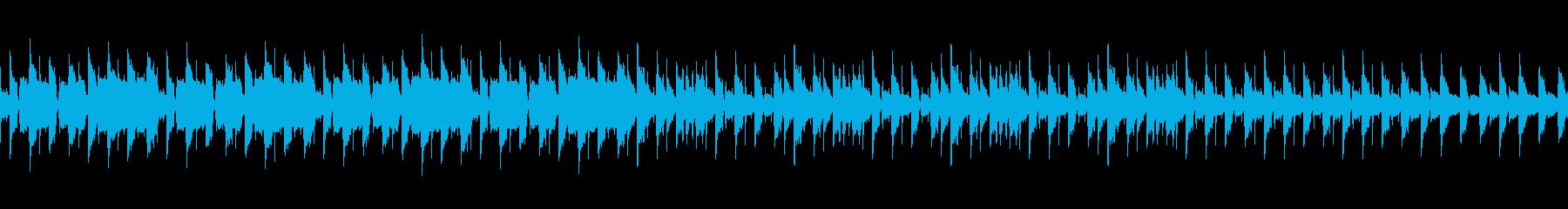 ピアノ、フルート、マリンバのループ曲の再生済みの波形