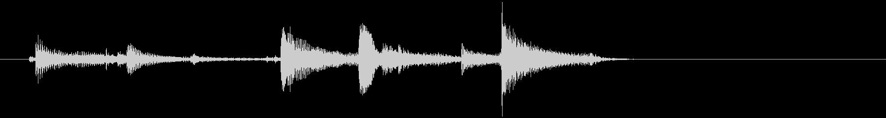生音 三味線 ショートフレーズの未再生の波形