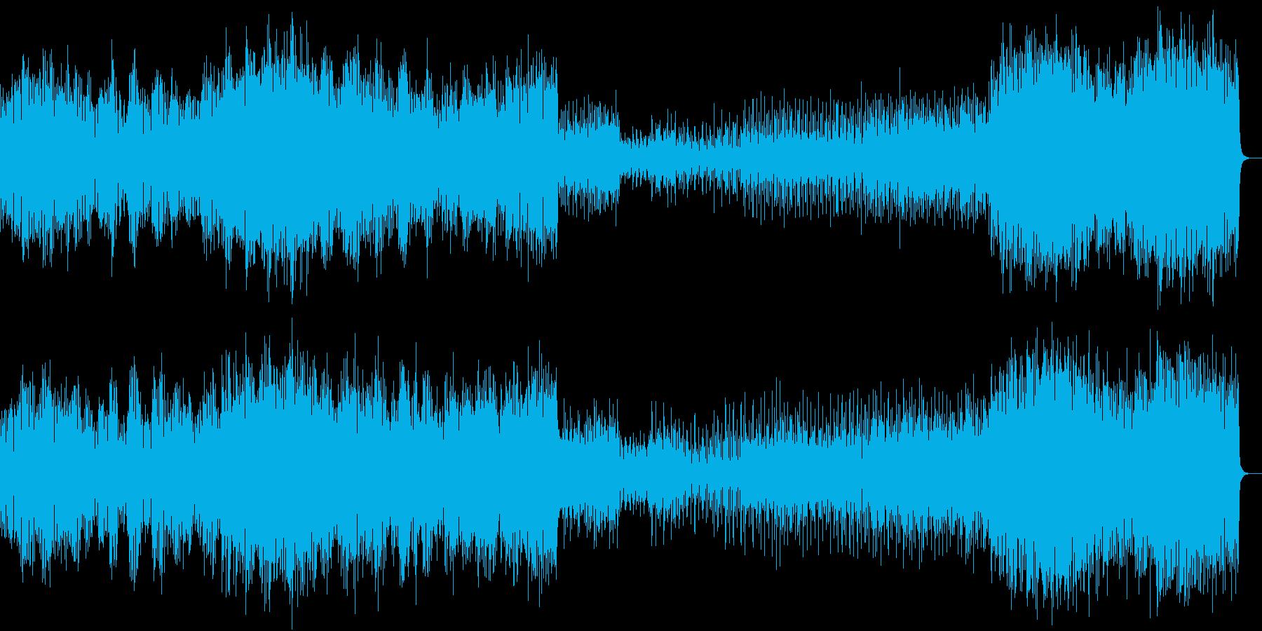 待ち時間BGMに最適な抑揚の少ないテクノの再生済みの波形