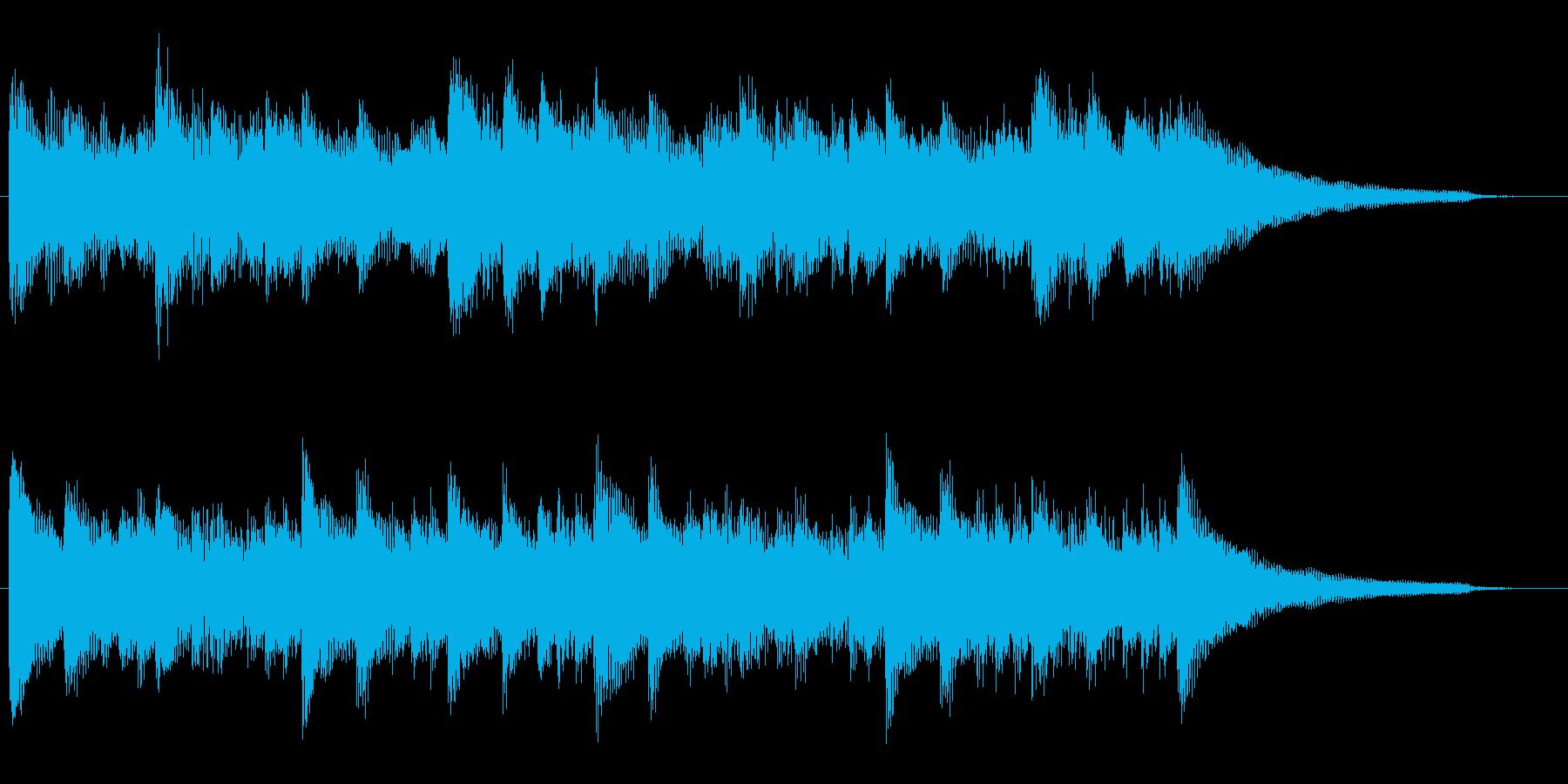 明るく希望を感じるピアノジングル 15秒の再生済みの波形