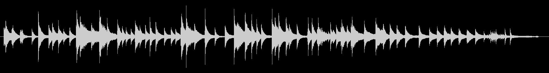 カオスティックなピアノの未再生の波形