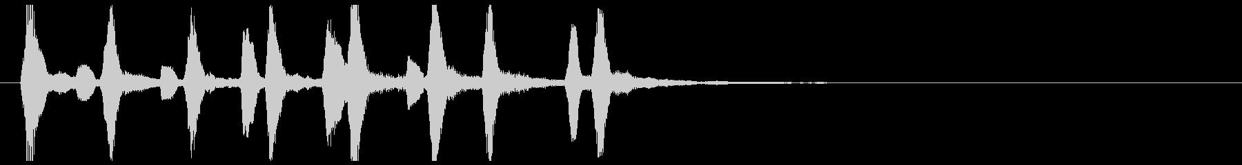 ほのぼのちゃんちゃん駆け足木管リコーダーの未再生の波形