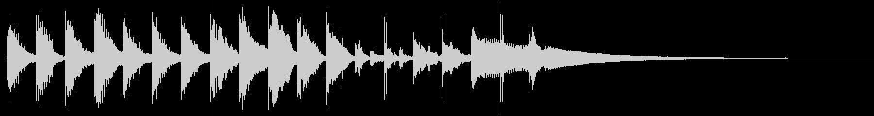 クリーン&シンプル&モダンなサウンドロゴの未再生の波形