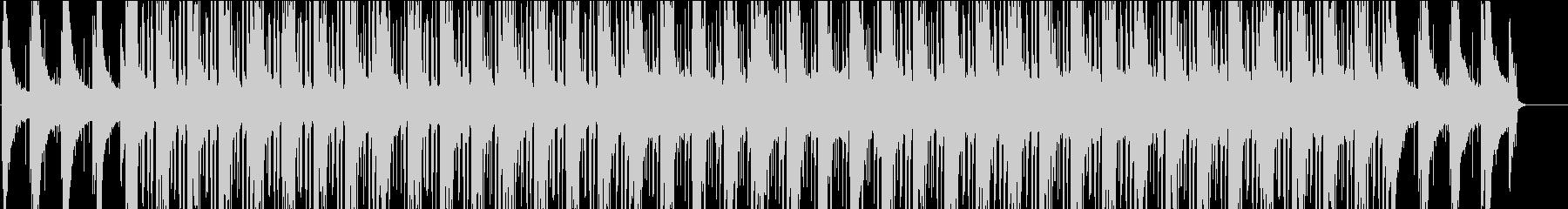 ピアノが鳴るヒップホップ風な曲の未再生の波形