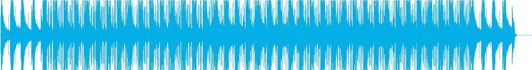 ピアノが鳴るヒップホップ風な曲の再生済みの波形
