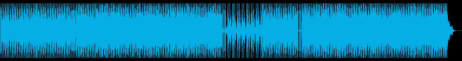 夜空を駆けるハウスの再生済みの波形
