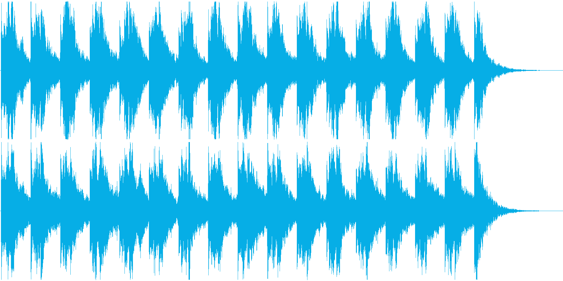 森や洞窟の中を歩いてるような不気味な曲の再生済みの波形