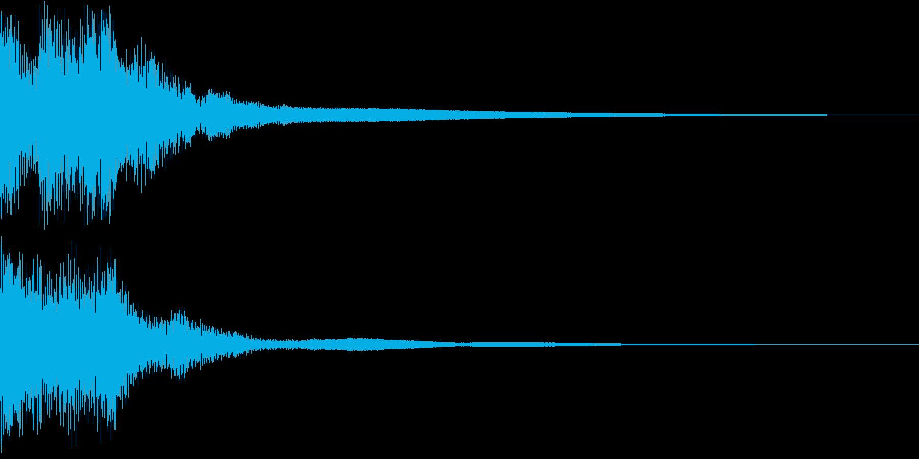 カジノスロット定番トップシンボル音2の再生済みの波形