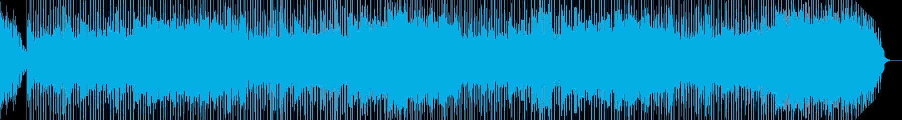 何かが壊れるような崩壊を彷彿させるBGMの再生済みの波形
