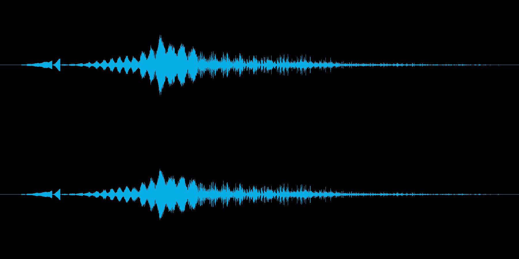 特撮 画面シャットダウングリッチ03の再生済みの波形