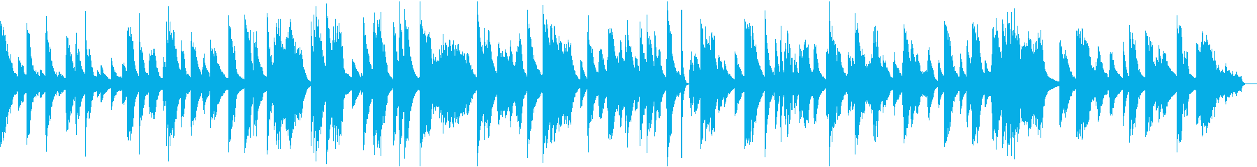 ジャズクラブ風のブルージーなピアノソロの再生済みの波形