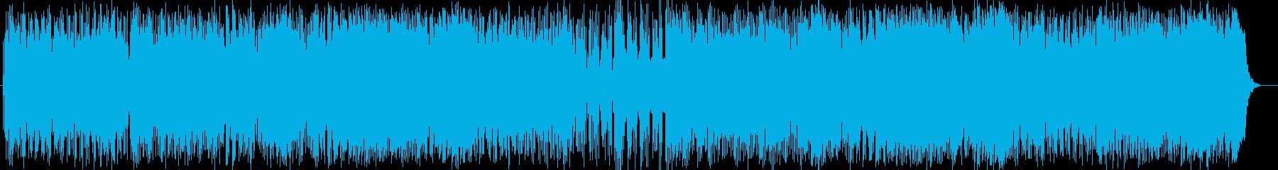 元気で明るいポップミュージックの再生済みの波形