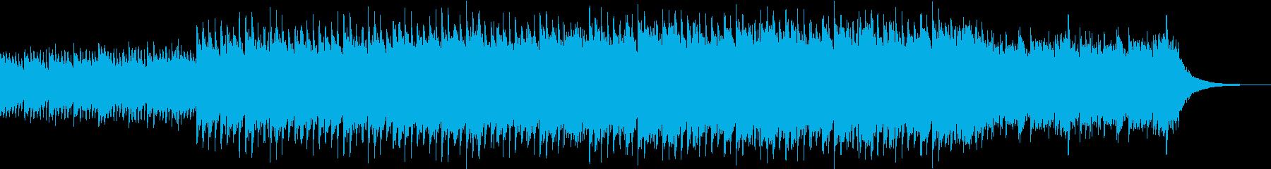 爽やかなピアノとストリングスの四つ打ちの再生済みの波形