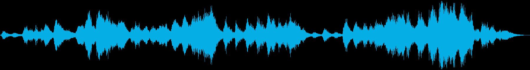 落ち着いた魅惑のヒーリング・シンセBGMの再生済みの波形
