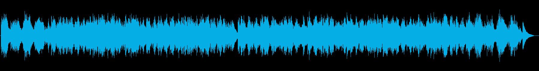 癒しのシンセサイザーサウンドの再生済みの波形