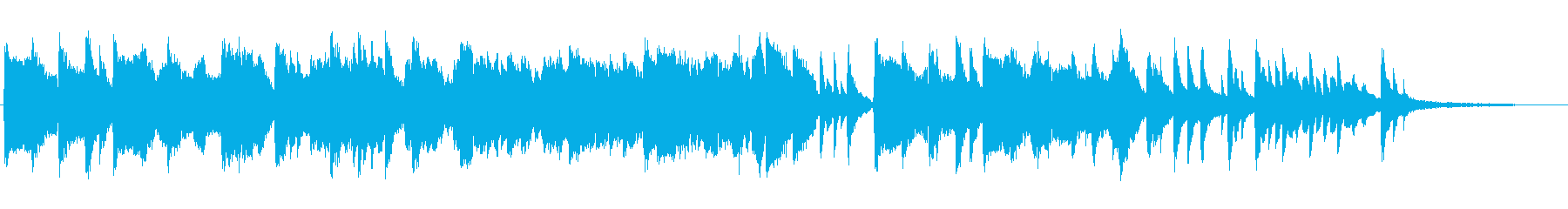 センチメンタルなピアノ+ひちりきの再生済みの波形
