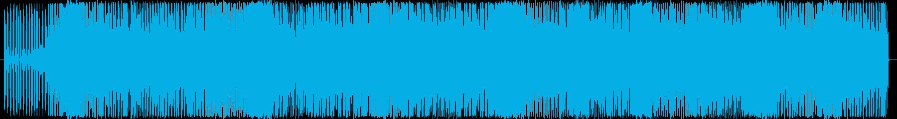 4つ打ちハウス系のお洒落なダンスサウンドの再生済みの波形