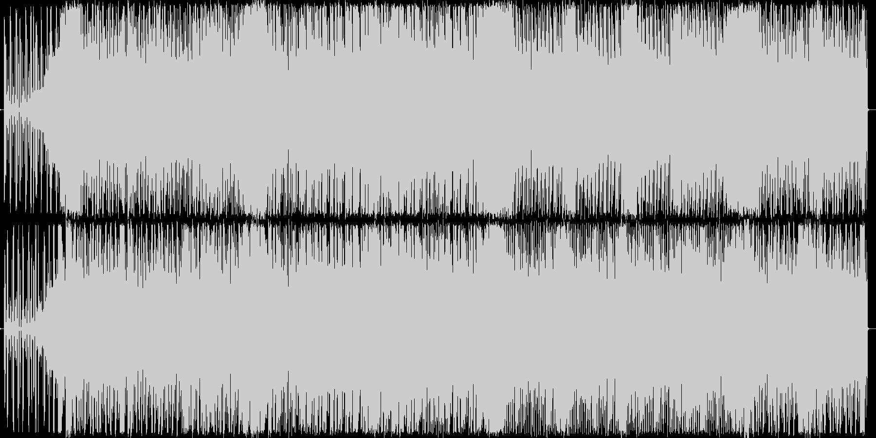 4つ打ちハウス系のお洒落なダンスサウンドの未再生の波形