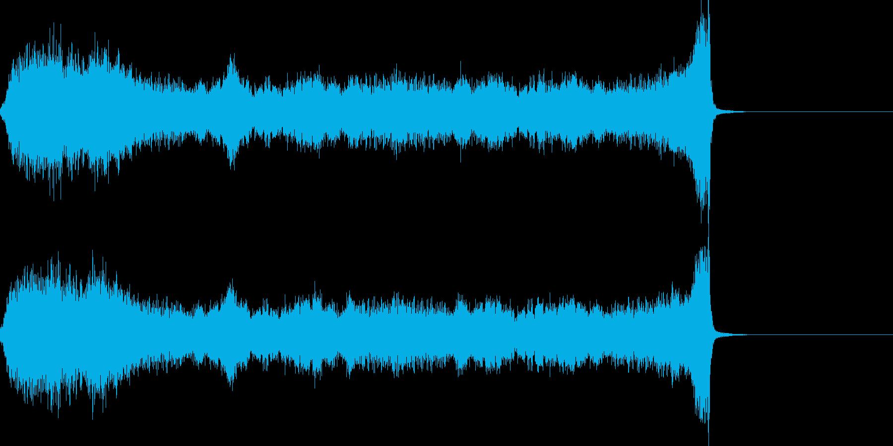 ホラー(恐怖の始まり)の再生済みの波形