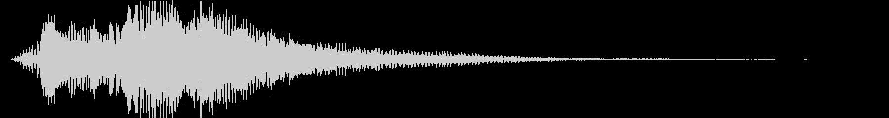 ロゴ ジングル ピアノ 透明感 きらきらの未再生の波形