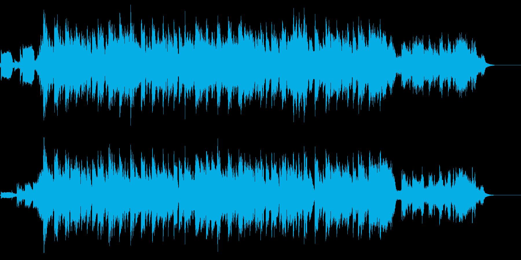 お洒落なオープニングに使えそうなジングルの再生済みの波形