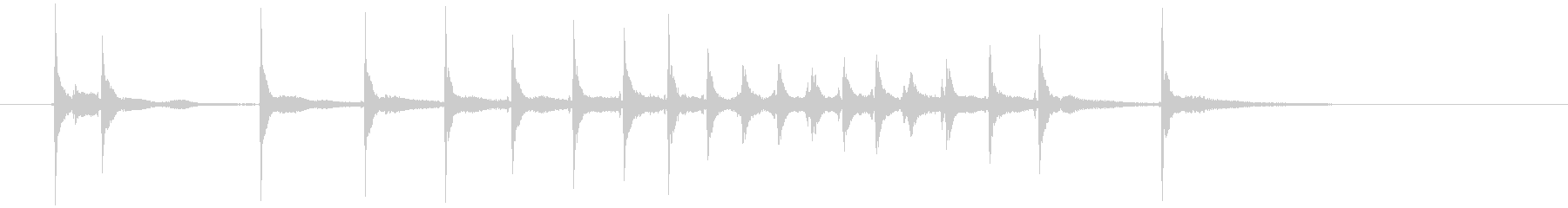 締める時のお決まりフレーズ(三味線で)2の未再生の波形
