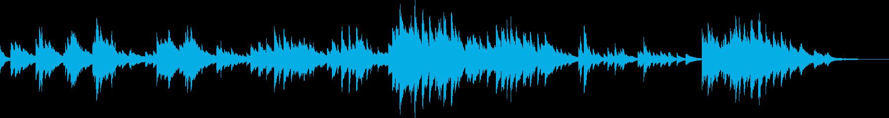 美しい風景(ピアノ・感動・自然)の再生済みの波形
