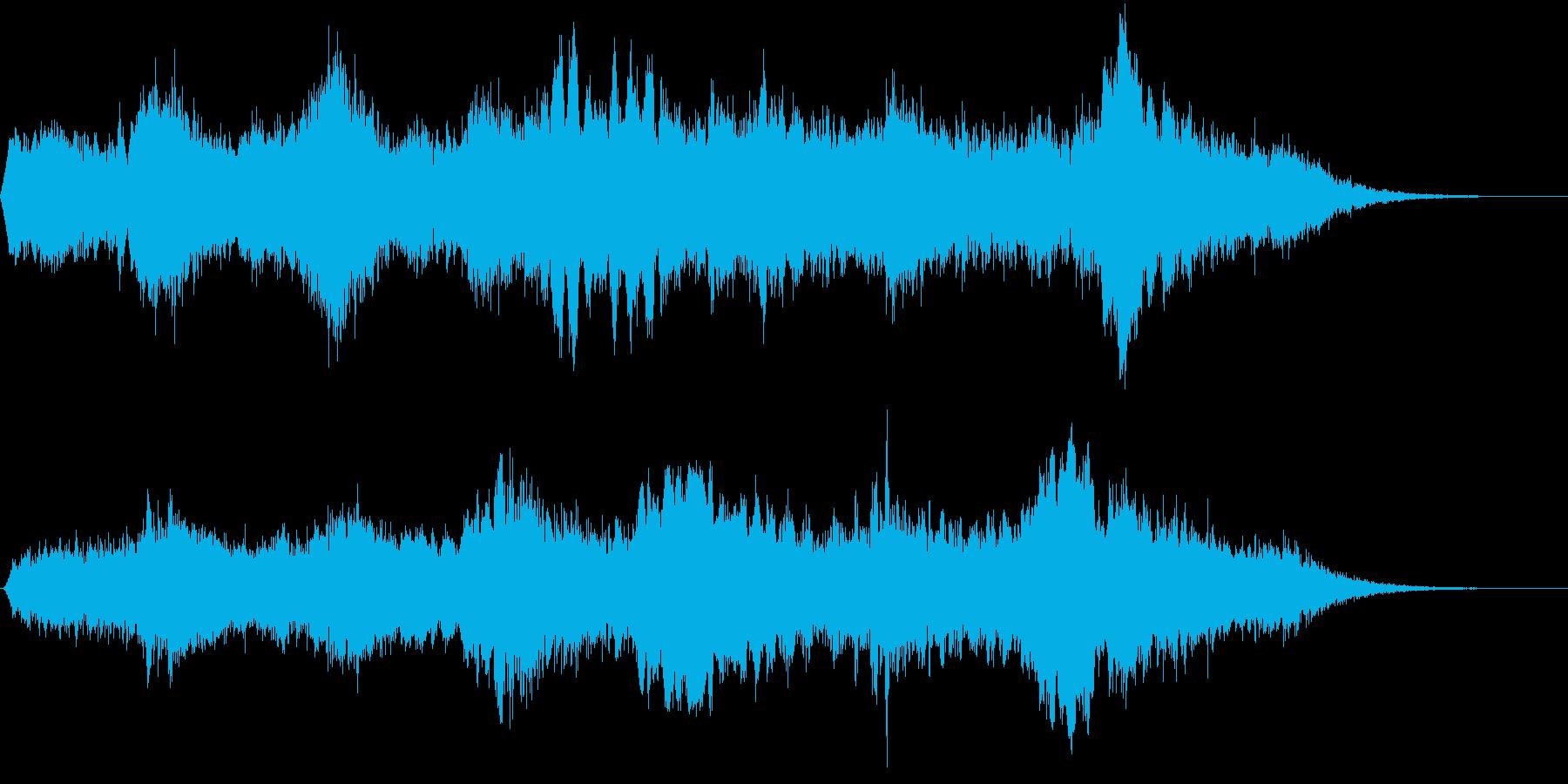 神秘的な森・神殿の環境音の再生済みの波形
