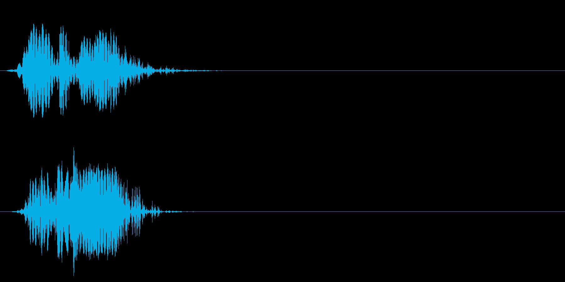 ショートカット遷移1の再生済みの波形