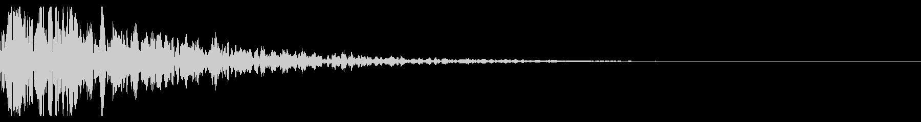 ドーン-10-1(インパクト音)の未再生の波形