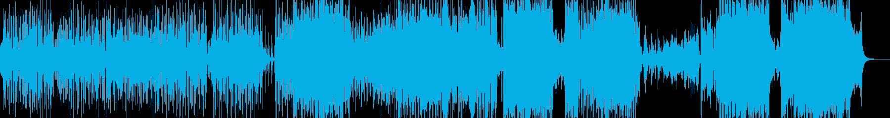 ウクレレ・南国のアコギテクノポップの再生済みの波形