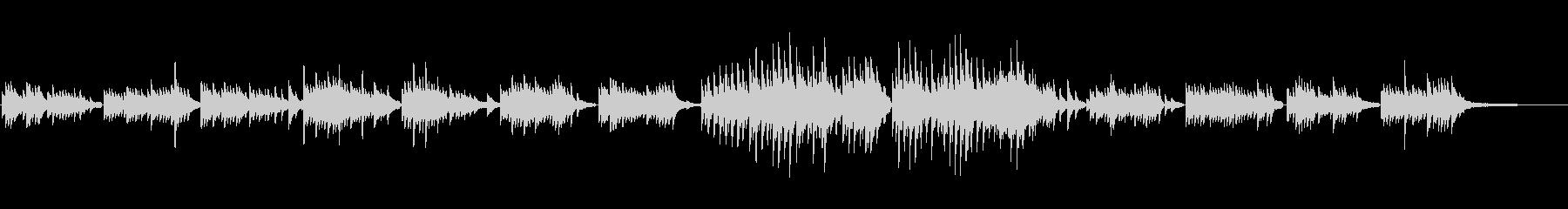 生ピアノソロ・雨の後の夕焼けの未再生の波形